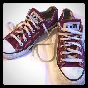 Garnet Converse shoes